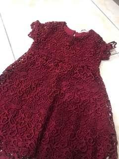 Zara 蕾絲小洋裝