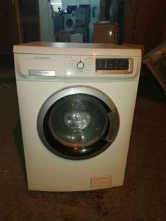 Used Electrolux front load hot washer 8.0kg Washing Machine Mesin Basuh Fully Auto stainless steel drum in Good Condition