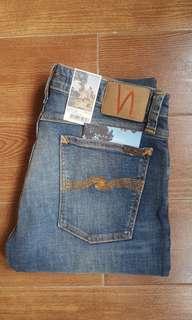Nudie Jeans Skinny Lin Orange Tease Size 32