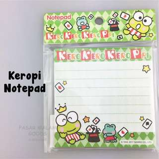 Keropi Notepad Message Memo Pad Small Writing Write Note Paper
