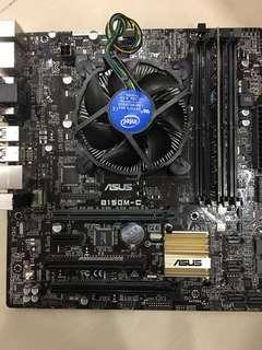 Asus b150m-c + i5 6400+ddr4 8gb 2400 LGA1151 6th gen