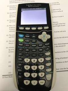 Graphing calculator Texas Instruments Plus C silver edition