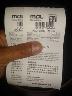 MOL POINT worth rm 200