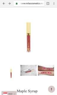Mila Cosmetics' Matte Liquid Lipstick (Shade - Maple Syrup)