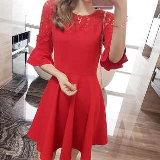 RED CASUAL DRESS JLH