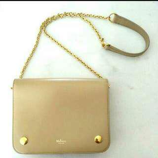 Mulberry Clifton Shoulder Bag In Beige Calf Leather