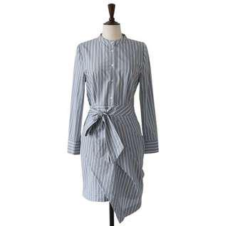 Cherrykoko Stripped Shirt Dress