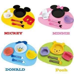 日本直送 Disney Baby 造型餐盤 米奇 米妮 唐老鴨 小雄維尼