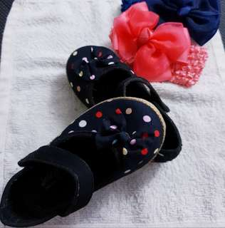 (Free Postage) Baby Shoes With Baby Scarf