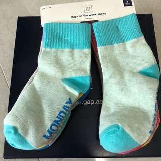 Gap Kids pastel days of the week socks - 7 pairs