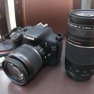 Canon 550d With 2 Lens