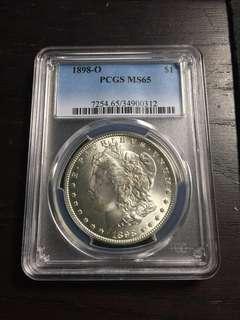 (13Jun-20Jun Sales!)1898-O PCGS MS65 Morgan Silver Dollar