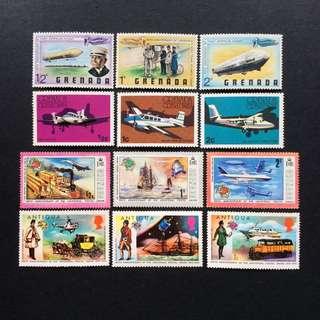 Grenada 郵票 2圖合售 (有黃)