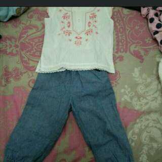 Jogger jeans baby 6 bulan-12 bulan