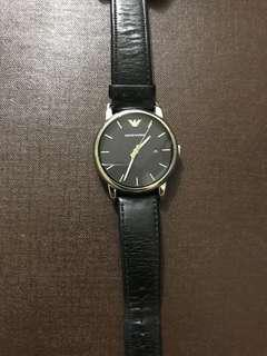 All Black Armani watch