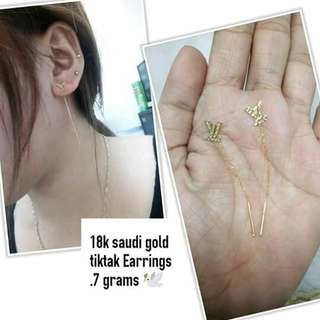 Sale 18k saudi gold tictac earring