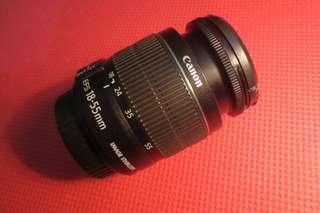 Lensa kit Canon 18-55mm IS