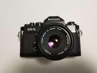 Ricoh KR-5 機械相機連55mm