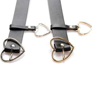 HEART BUCKLE BELT W/ CHAIN
