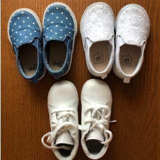 Baby Girl Summer Shoes Size 7 - Set of 3 Pairs - $40
