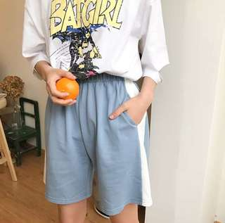 instocks pastel blue basketball shorts
