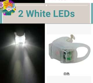 🚚 White lights 3 modes bicycle scooter front