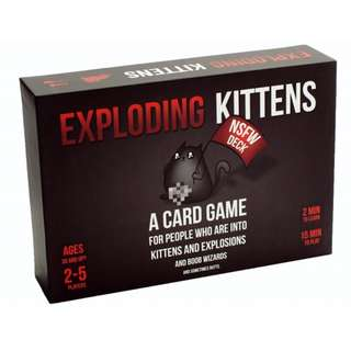 Exploding Kittens NSFW edition card game (NOT a $5-25 FAKE)