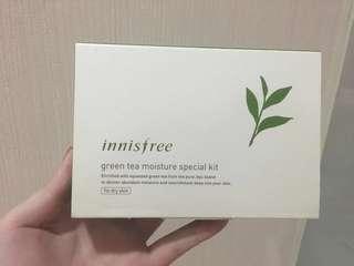 Innisfree green tea moisture special kit for dry skin