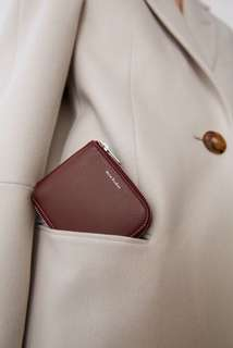 Acne Studio compact wallet burgundy