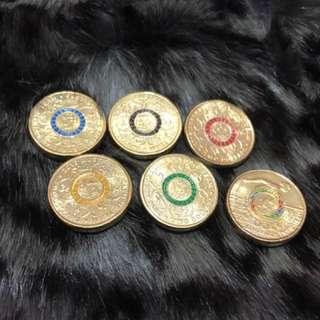 奧運 限量版紀念金幣 澳幣 two dollars 2016全新