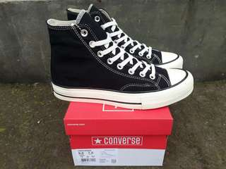 READY STOCK  PREMIUM BNIB  MADE IN VIETNAM CONVERSE HIGH 70.s BLACK/WHITE SIZE 40/41/42/43/44