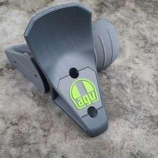 AGV 3D [Printed] HelmSuit Holder Gray