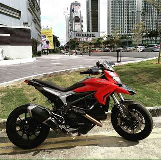 2014 Hyperstrada 821 cc 🇲🇾 Continue Loan Bike. LOW MONTHLY. LOW DP. LOW BALANCE ‼️ ROADTAX AVAILABLE ✅ DP? PM FAST!
