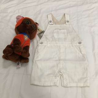 Giggles dungaree with pocket detail