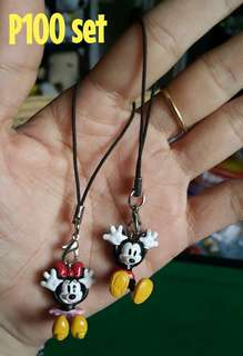 Mickey & Minnie Mouse Phone Charms