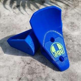AGV 3D [Printed] HelmSuit Holder Blue