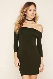 Forever 21 Off Shoulder Body Con Dress