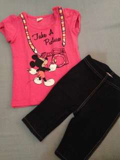 Minnie mouse Top and Pants