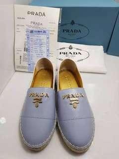 Sepatu Prada Wanita Slip On New Mirror Quality