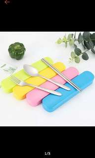 3 in 1 spoon, fork, and chopstick case