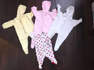 New Baby, Chicco Bodysuits and Carters Leggings