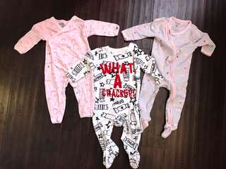 Cotton On and Mothercare Bodysuits