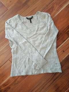 BCBG Distressed Cashmere Sweater