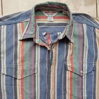 BUDWEISER Cone USA Long Sleeve Shirt Vintage Made in USA