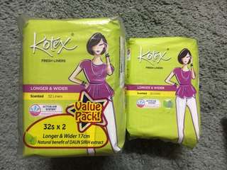 Kotex fresh liners