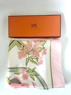💯真品 Auth Hermes 100% silk scarf 經典高貴優雅全真絲絲巾 圍巾