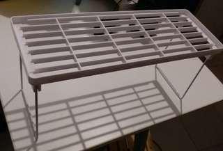 可疊加 多用途塑膠折疊層架 雜物架 置物架 收納整理架 托高廚房調味架