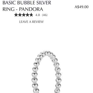 PANDORA bubble ring