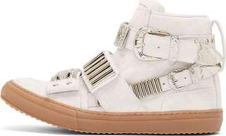 BRAND NEW *Toga Pulla White Suede Sneakers