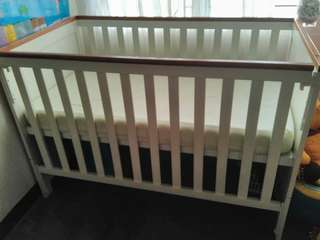 Imported 2-in-1 wooden crib